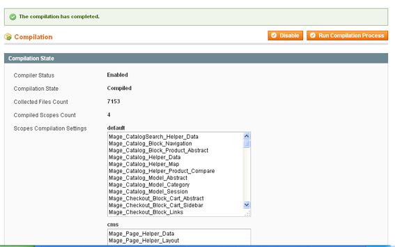 Magento Compilation Enabled